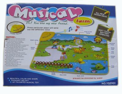 Развивающий музыкальный коврик ферма